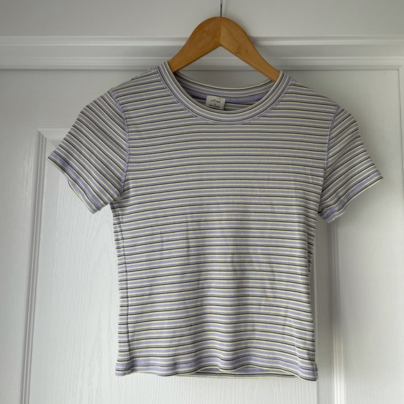 Wilfred cropped striped t shirt